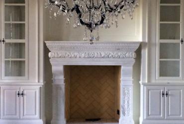 Cast Stone Mantels - Antique Fireplaces | Shopstonefireplaces.com