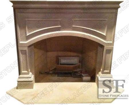 Lancaster Cast Stone Fireplace