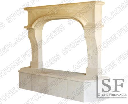 Nevada Cast Stone Fireplace Surround