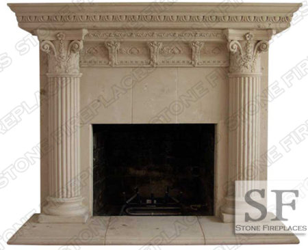 Rhodes Ancient Fireplace Mantel