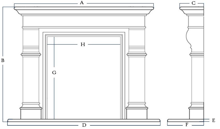 Quote Custom Fireplace Mantel Surround