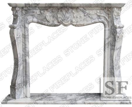 St Louis Arabescato Fireplace Mantel