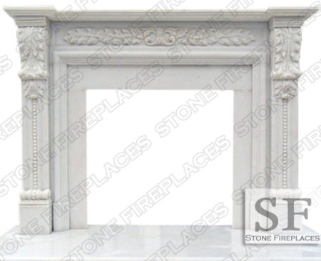 HINSDALE-WHITE-MARBLE-FIREPLACE
