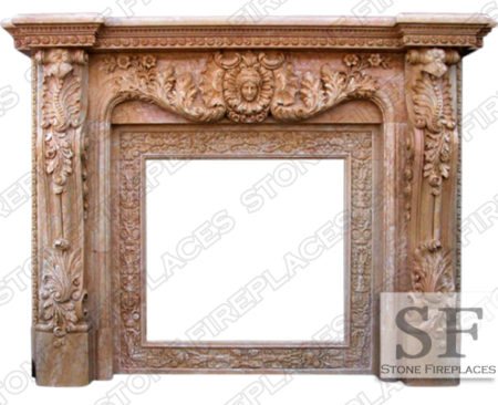 Baroque Verona Marble Fireplace