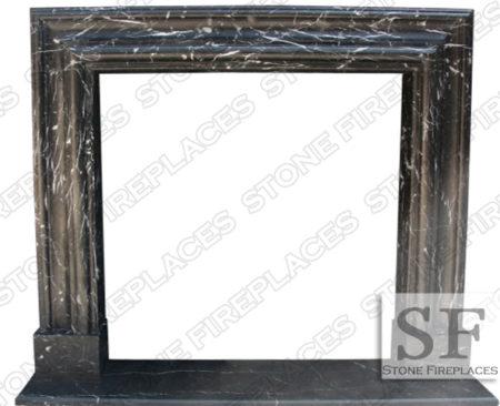 Black Marble Bolection Mantel Surround