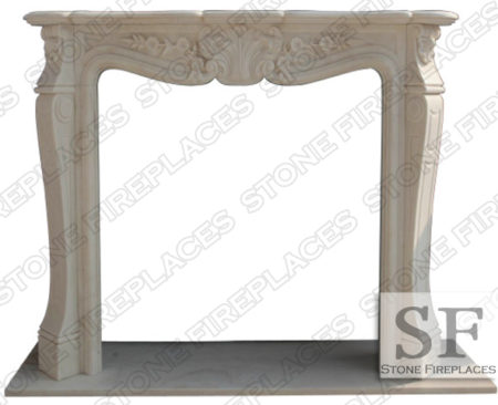 Carolina White Marble Fireplace Mantel