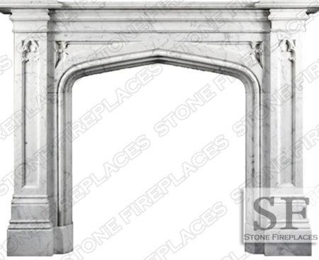 Gothic Tudor English Fireplace Mantel