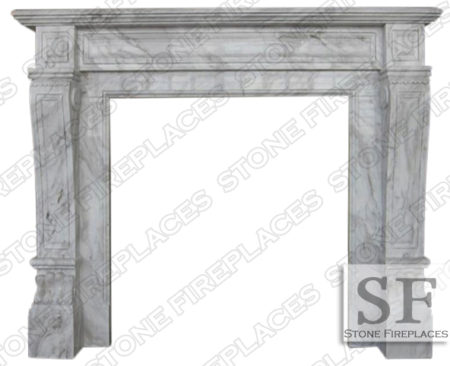 Italian Regal Volakes Fireplace Mantel