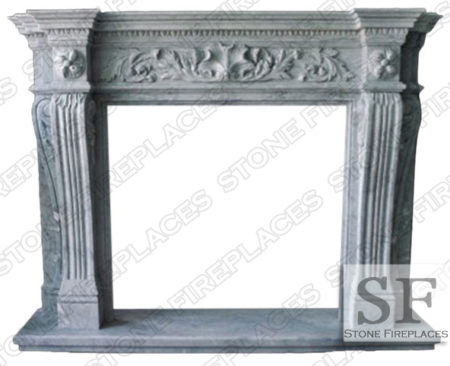 Larchmont Marble Fireplace Mantel