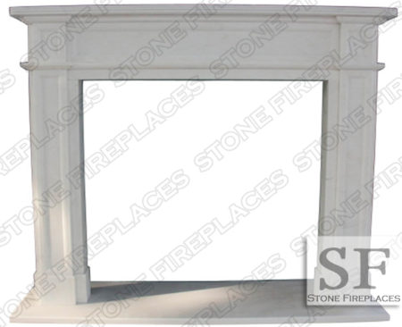 Regent White Marble Fireplace Mantel