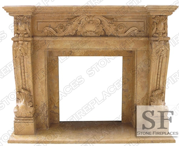 Verona french marble fireplace sale for Marble mantels for sale