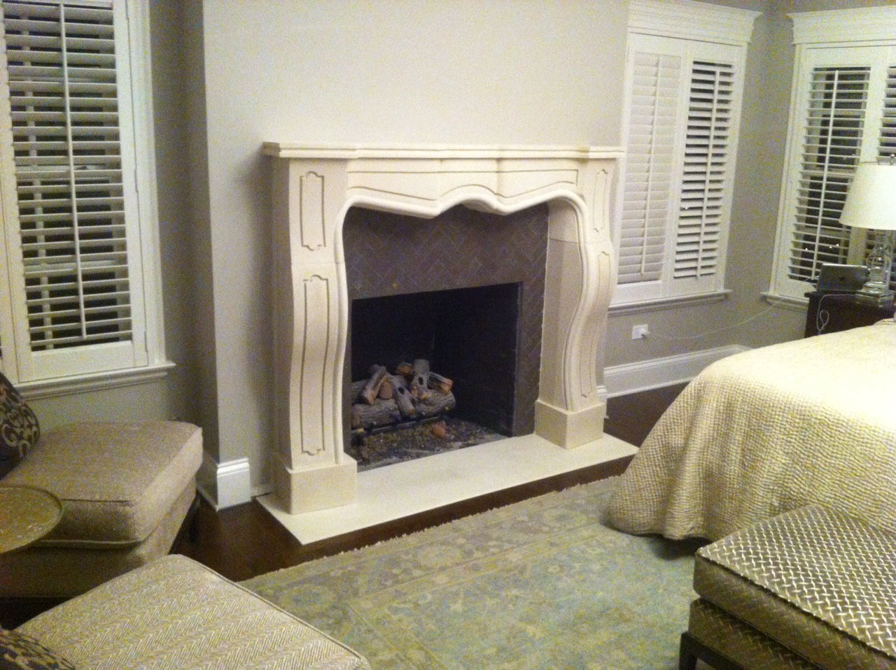 Master Bedroom Fireplace Mantel