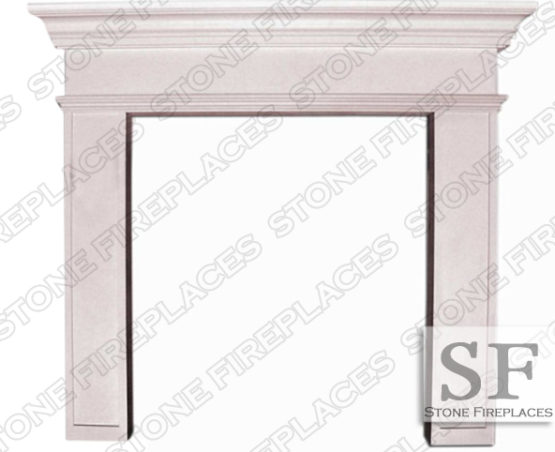 Modern Fireplace, Cast Stone Mantel