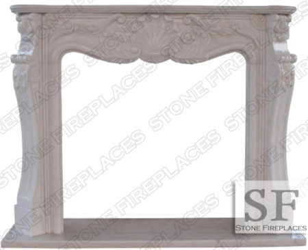 St Louis White Marble Fireplace Mantel