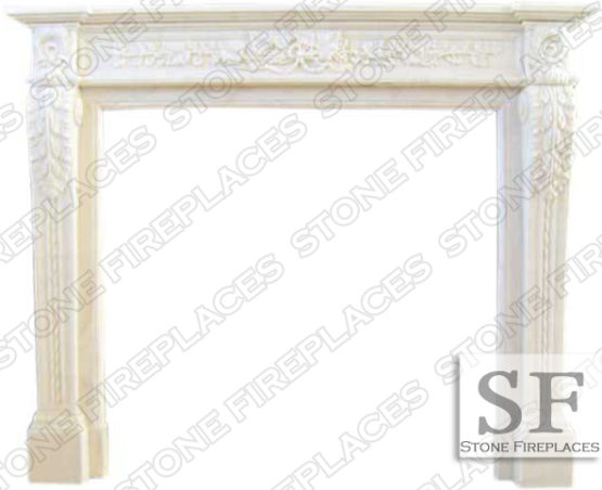 Capri White Marble Fireplace Surround