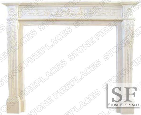 Capri White Marble Fireplace Surround