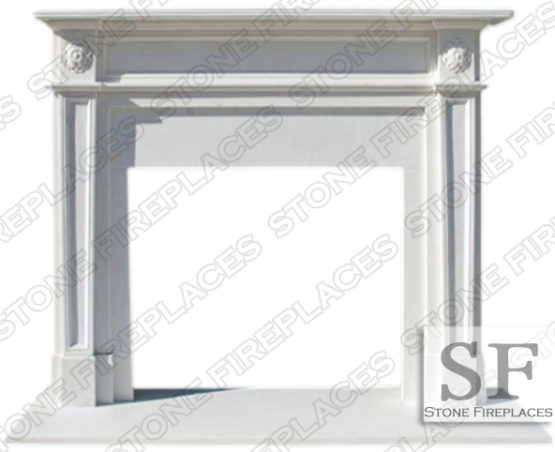 White Marble Mantel Fireplace English Regent