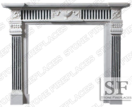 Marble Fireplace Surround, Georgia, Mantel, Hearth, Columns