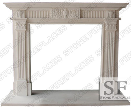 Georgia Marble Fireplace Mantel Surround