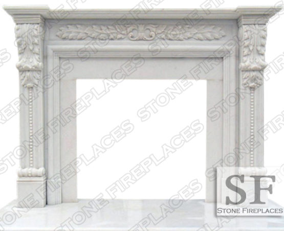 Hinsdale Marble Fireplace Mantel