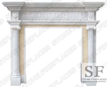 Marble Fireplace, Ionic Albany New York, Mantel NYC Fireplace Store
