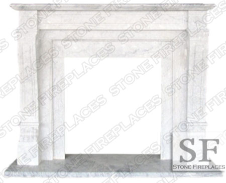 Italian Regal Marble Fireplace Mantel