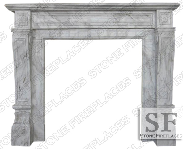 Italian Regal Volakes Fireplace Mantel