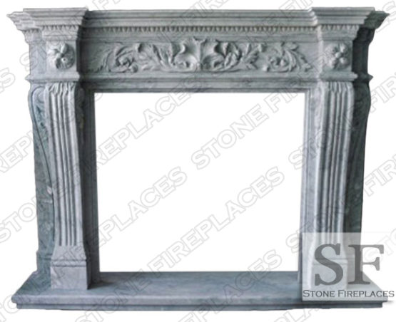 Larchmont Marble Fireplace Mantel