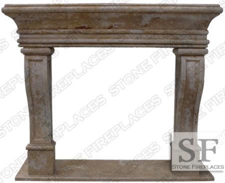 Leon Travertine Fireplace Mantel