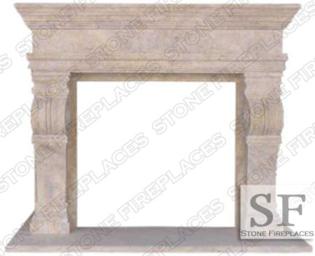 Melrose Travertine Fireplace Surround