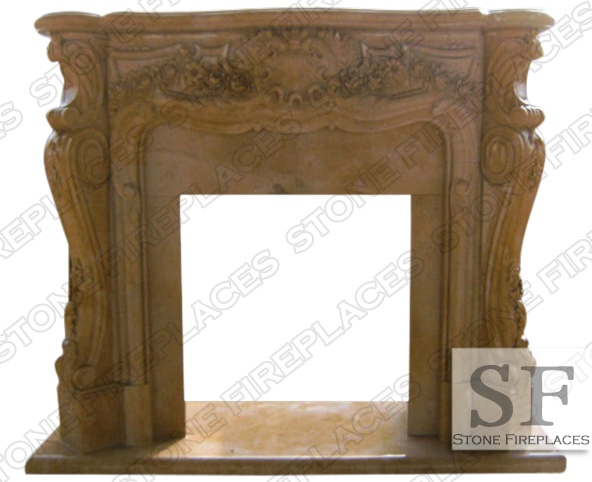 French Fireplace Marble Victoria Antique Beige Mantel